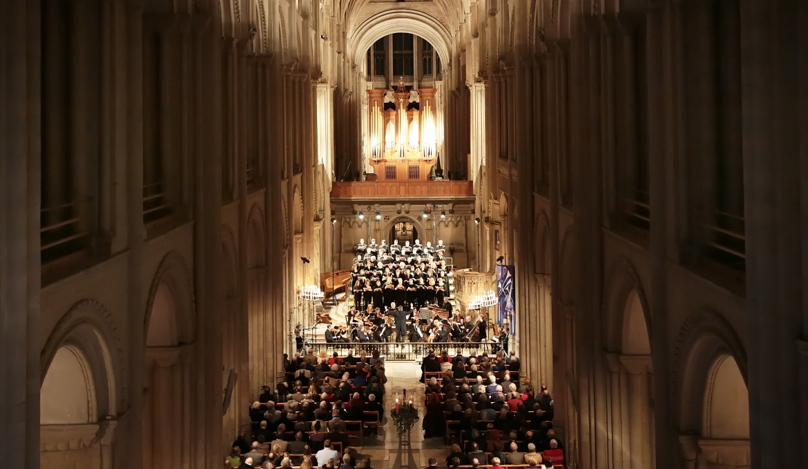 A picture of a concert taking place in the nave