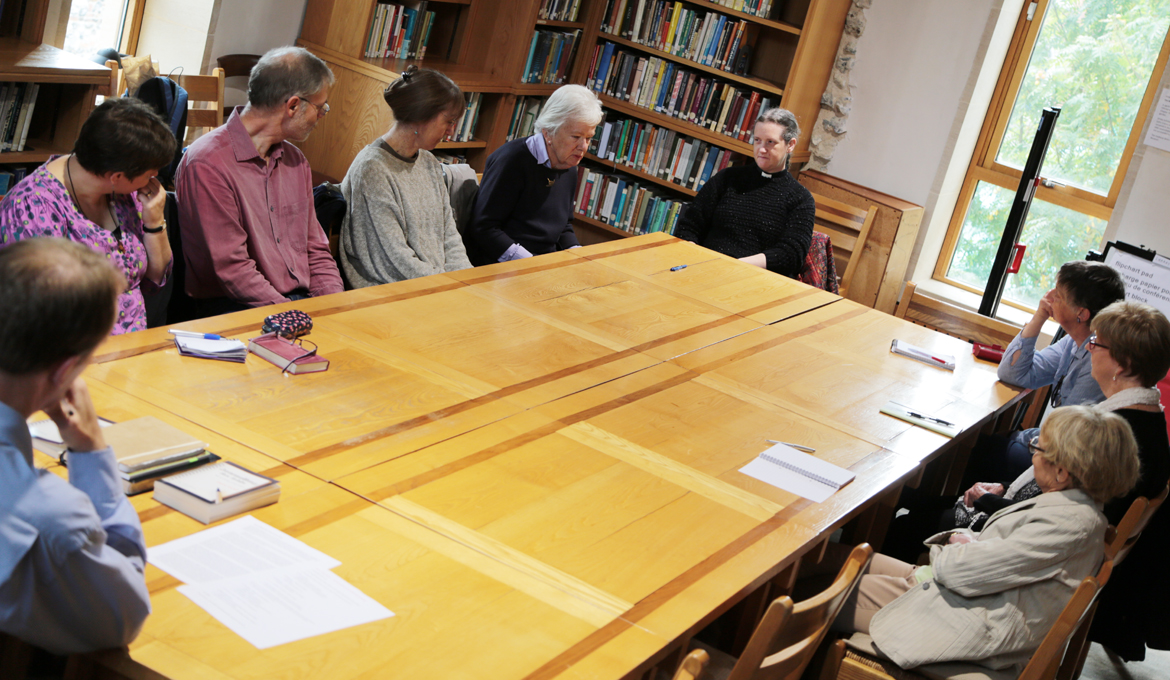 A picture of an NCCL session being held in the Library