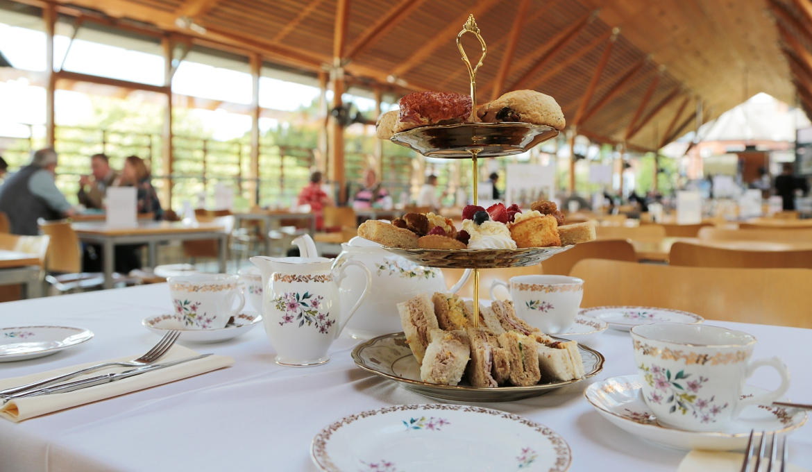 A picture of afternoon tea at the Refectory Cafe
