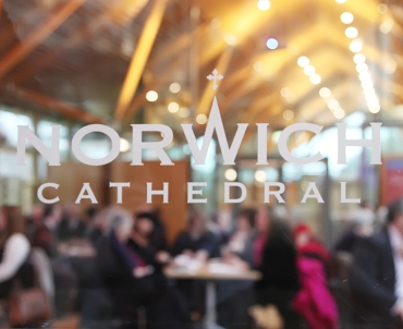 A picture of a business group networking at Norwich Cathedral