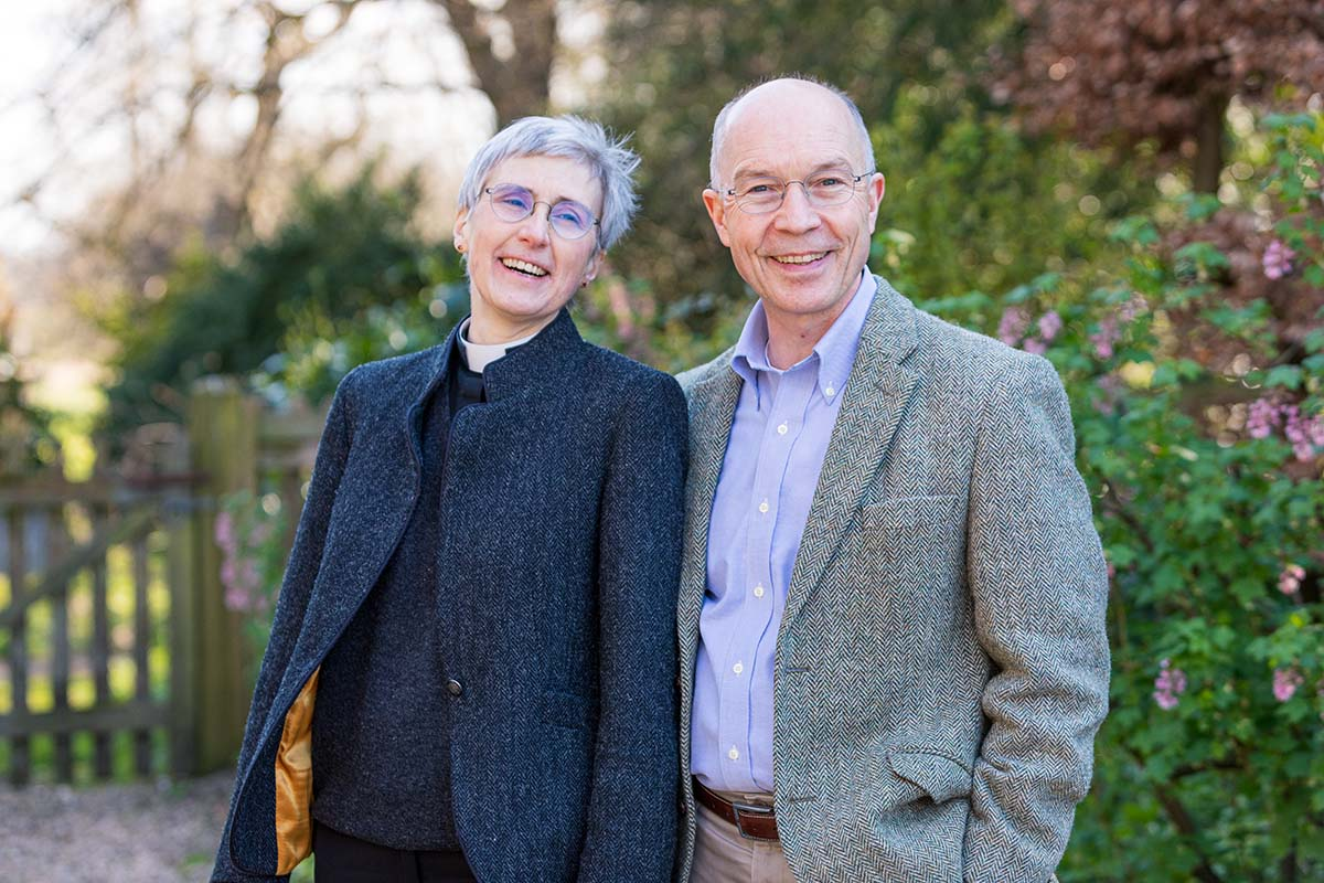 Bishop of Lynn designate, the Ven Dr Jane Steen and husband Pip (c) Diocese of Norwich
